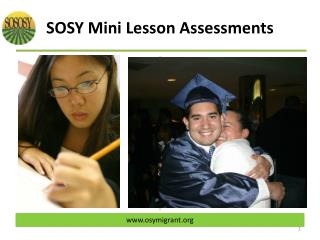 SOSOSY Mini Lesson Assessments