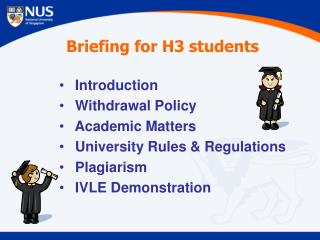 Briefing for H3 students