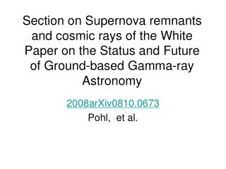 Section on Supernova remnants and cosmic rays of the White Paper on the Status and Future of Ground-based Gamma-ray Astr