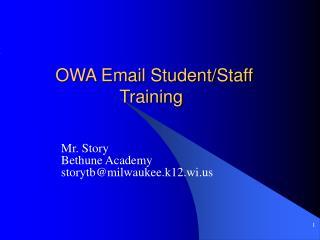 OWA Email Student/Staff Training