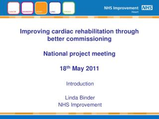Introduction  Linda Binder NHS Improvement