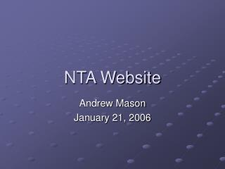 NTA Website