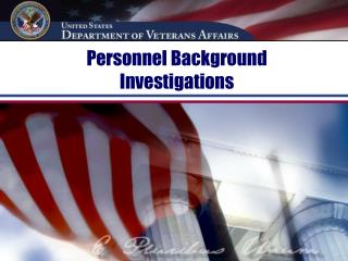 Personnel Background Investigations