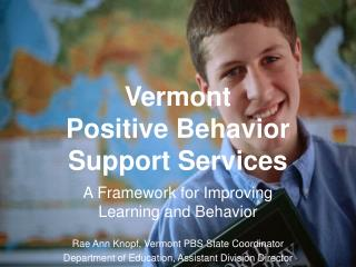 Vermont Positive Behavior Support Services