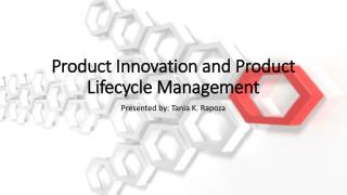 Product Innovation and Product Lifecycle Management