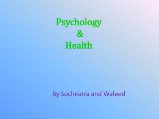 Psychology  &  Health