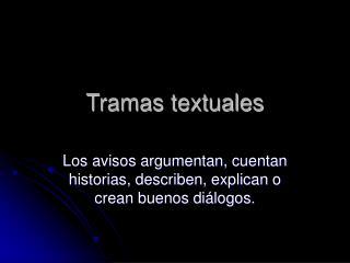 Tramas textuales