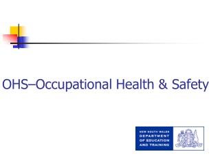 OHS�Occupational Health & Safety