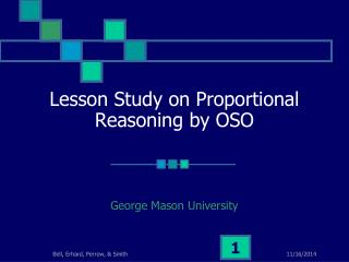 Lesson Study on Proportional Reasoning by OSO