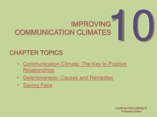 Improving  communication Climates
