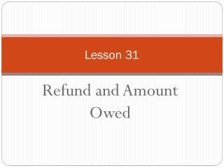 Lesson 31