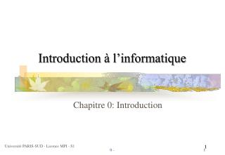 Introduction   l informatique