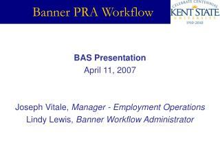 Banner PRA Workflow