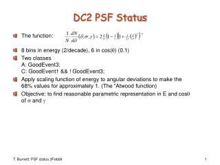 DC2 PSF Status
