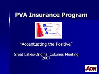 PVA Insurance Program