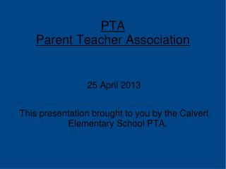 PTA Parent Teacher Association