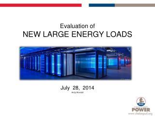 Evaluation of  NEW LARGE  ENERGY LOADS
