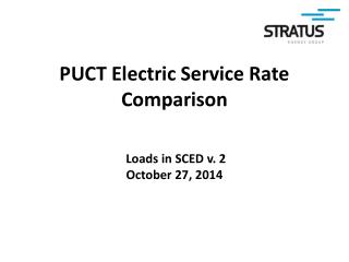 PUCT Electric Service Rate Comparison