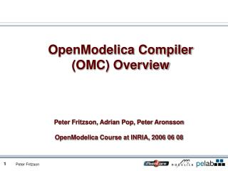 OpenModelica Compiler (OMC) Overview