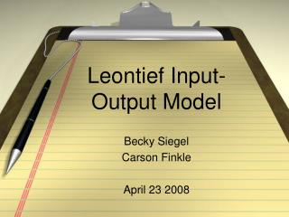 Leontief Input-Output Model