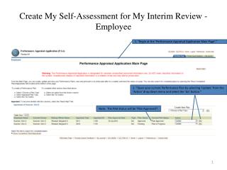 Create My Self-Assessment for My Interim Review - Employee
