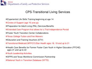 CPS-Transitional Living Services