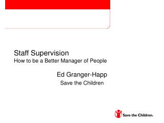 Staff Supervision How to be a Better Manager of People
