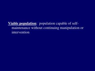 Minimum viable population (MVP)