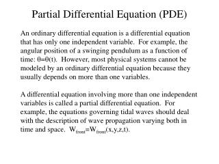 Partial Differential Equation (PDE)
