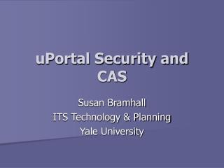 uPortal Security and CAS