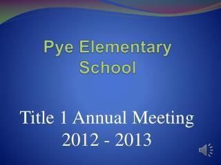 Pye Elementary School
