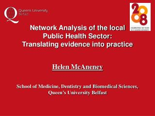 Network Analysis of the local  Public Health Sector:  Translating evidence into practice