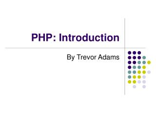 PHP: Introduction