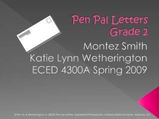 Pen Pal Letters  Grade 2