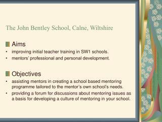 SW1 Mentoring Workshops