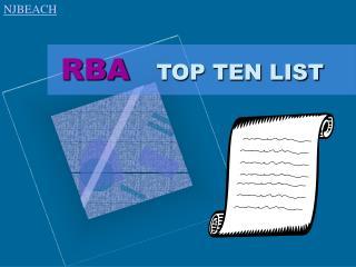 RBA  TOP TEN LIST