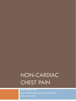 Non-Cardiac Chest Pain