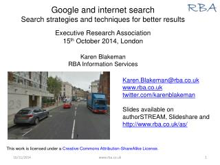 Google and internet search Search strategies and techniques for better results
