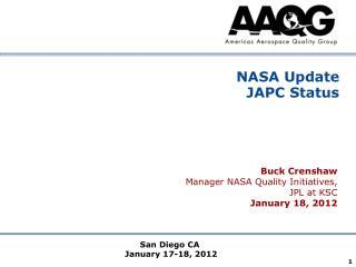 NASA Update  JAPC Status