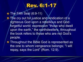 Rev. 6:1-17