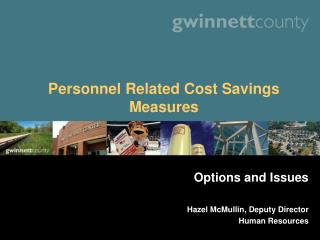 Personnel Related Cost Savings Measures