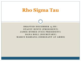 Rho Sigma Tau