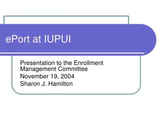 ePort at IUPUI