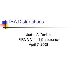 IRA Distributions