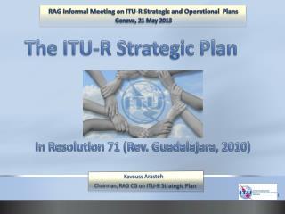 The ITU-R Strategic Plan