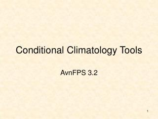 Conditional Climatology Tools