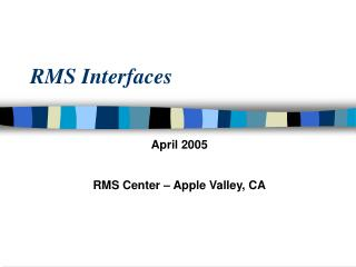 RMS Interfaces