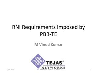 RNI Requirements Imposed  by PBB-TE