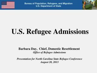 U.S. Refugee Admissions