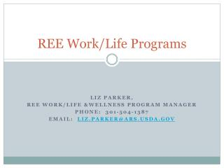 REE Work/Life Programs